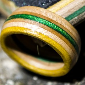 Recycled Skateboard Deck Ring