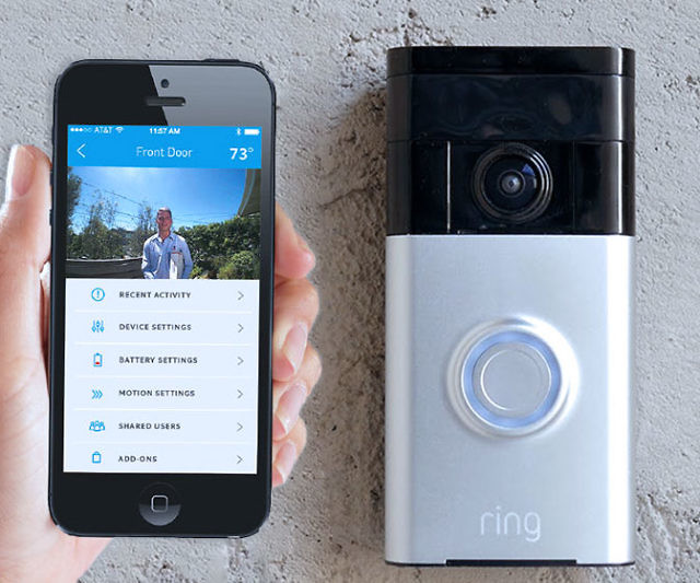 Smartphone Connected Video Doorbell Interwebs