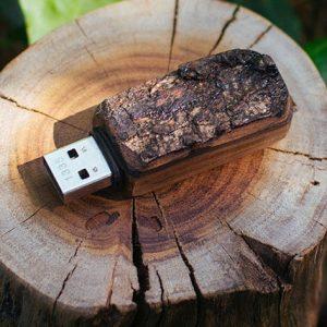 Solid Oak USB Flash Drive