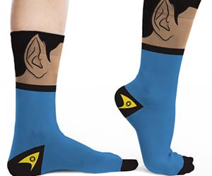 Star Trek Spock Socks