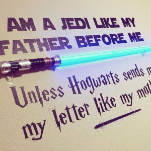 Star Wars & Harry Potter Wall Decal