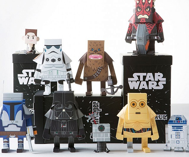 Star Wars Paper Craft Action Figures Interwebs