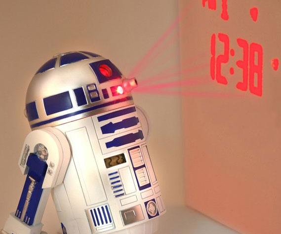 Star Wars R2-D2 Projection Alarm Clock