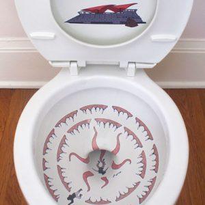 Star Wars Sarlacc Toilet Stickers