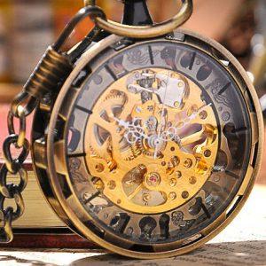 Steampunk Skeleton Pocket Watch