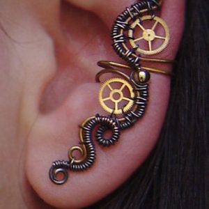Steampunk Wrap Earring