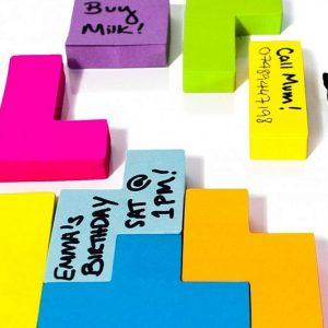 Tetris Shaped Sticky Notes