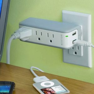 USB Recharger + Surge Protector
