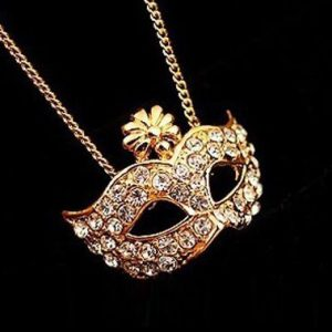 Vintage Mask Necklace
