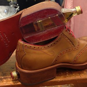 Whiskey Bottle Compartment Shoes
