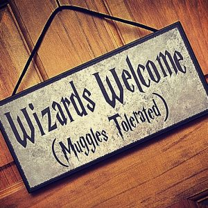 Wizards Welcome Sign