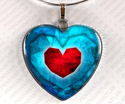 Zelda Heart Shaped Pendant