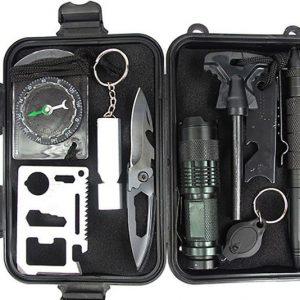 10-in-1 Emergency Survival Gear Kit