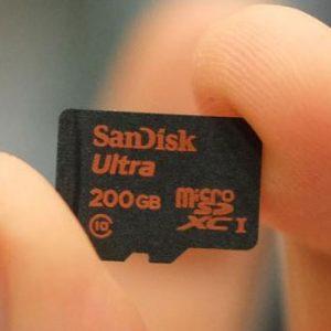200 Gigabyte Micro SD Card