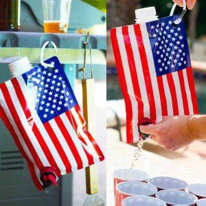 American Flag Liquor Flask