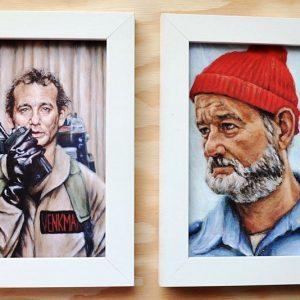 Bill Murray Character Paintings