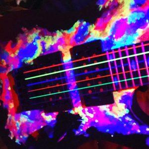 Blacklight Electric Guitar