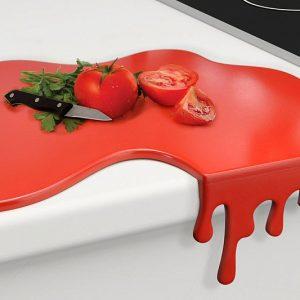 Blood Puddle Cutting Board