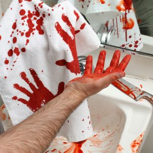 Bloody Hand Towel