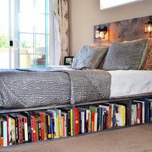 Bookshelf Bed Frame