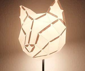 Cat Paper Lampshade