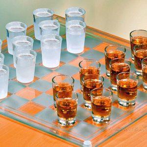 Checkers Shotglass Drinking Game