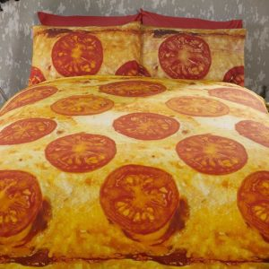 Cheese Pizza Bed Spread