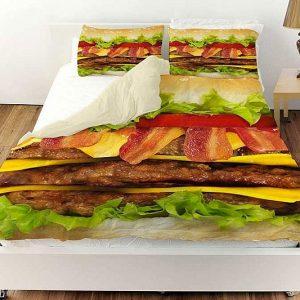 Cheeseburger Bed Set