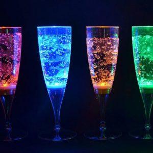 Color Changing LED Flute Glasses