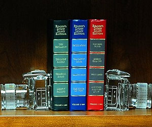 Crystal Camera Bookends
