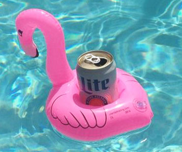 Floating Flamingo Drink Holsters