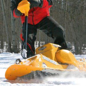 Gas Powered Snowboard