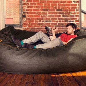 Giant Bean Bag Denim Sofa