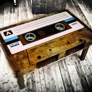 Giant Cassette Tape Table