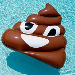 Giant Poop Emoji Pool Float