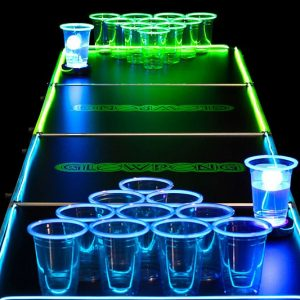 Glow In The Dark Beer Pong Set