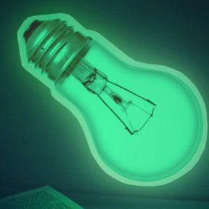 Glow In The Dark Light Bulb Sticker