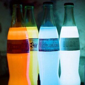 Glow In The Dark Soda Bottles