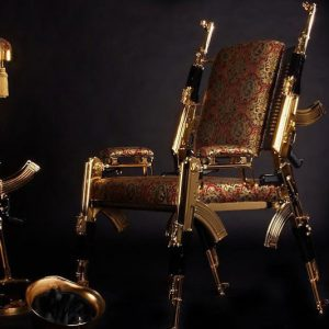 Gold-Plated AK-47 Chair