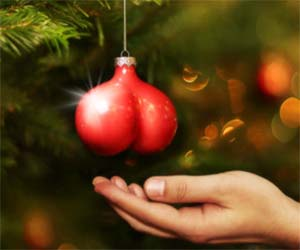 Hanging Testicles Tree Ornaments