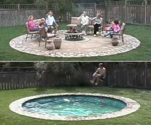 Hidden Patio Pool