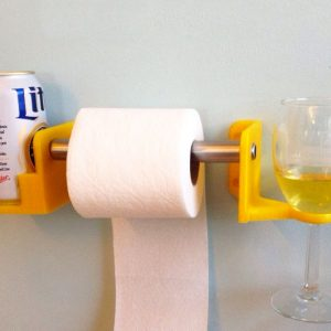 His & Hers Toiler Paper Cup Holders