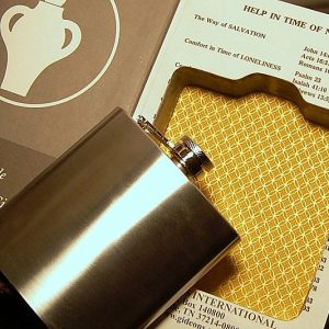 Hollow Bible Flask