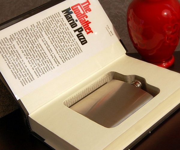 Hollowed Out Book And Flask