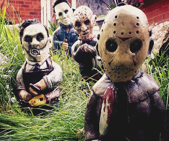 Horror Movie Garden Gnomes Interwebs