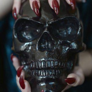 Human Skull Candle