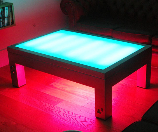 Illuminated Coffee Table Interwebs
