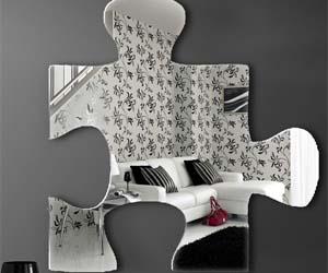 Jigsaw Piece Mirror