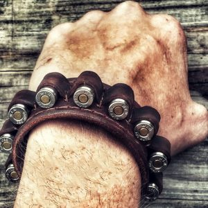Leather Ammo Bandolier Bracelet