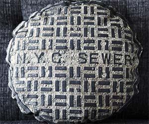 Manhole Cover Pillow